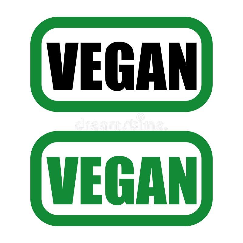 logotipo del vegano en colores verdes y negros libre illustration