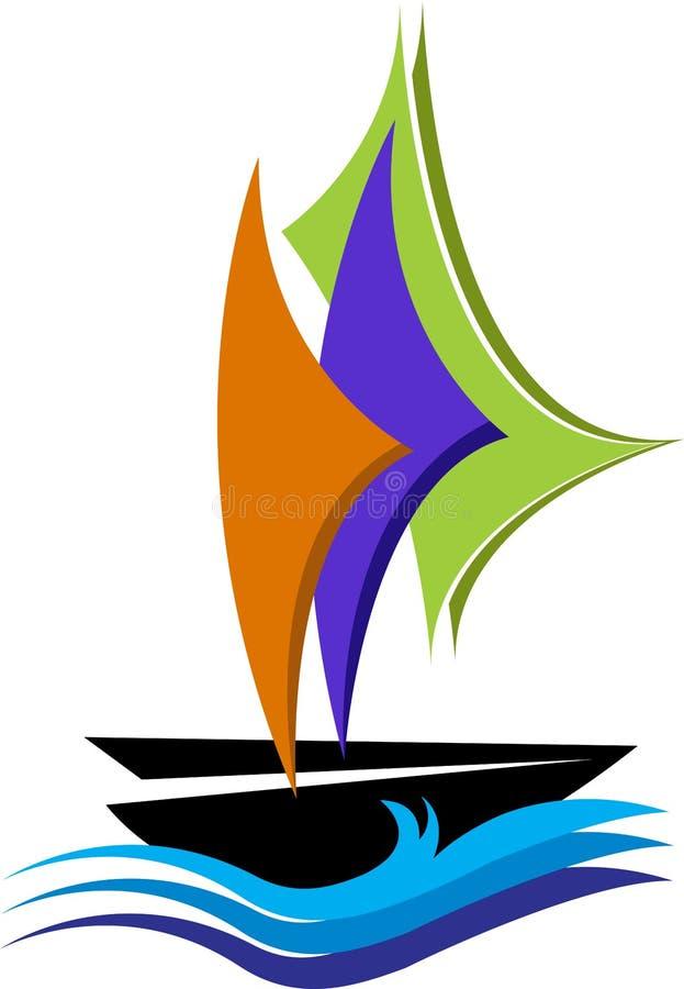 Logotipo del velero ilustración del vector