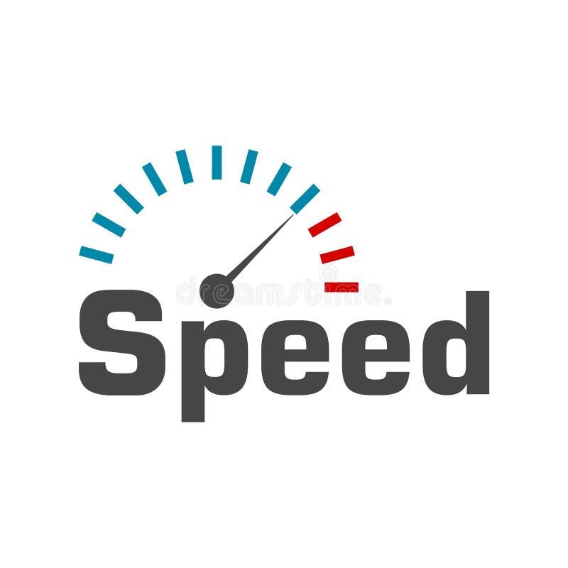 Logotipo del velocímetro, diseño del vector del metro de velocidad libre illustration