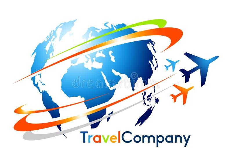 Logotipo del viaje stock de ilustración