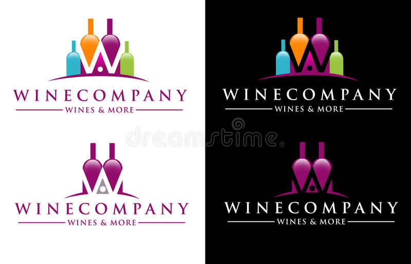 Logotipo del vino libre illustration