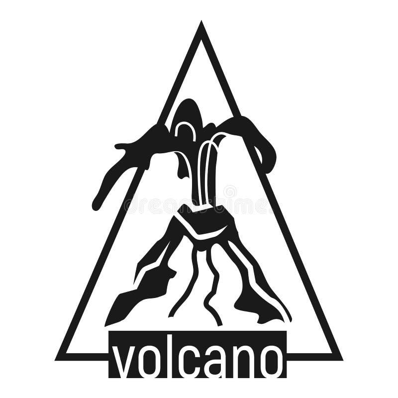 Logotipo del volc?n, estilo simple ilustración del vector
