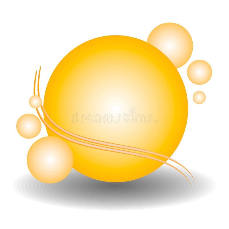 Logotipo del Web site de las esferas del oro fotos de archivo libres de regalías