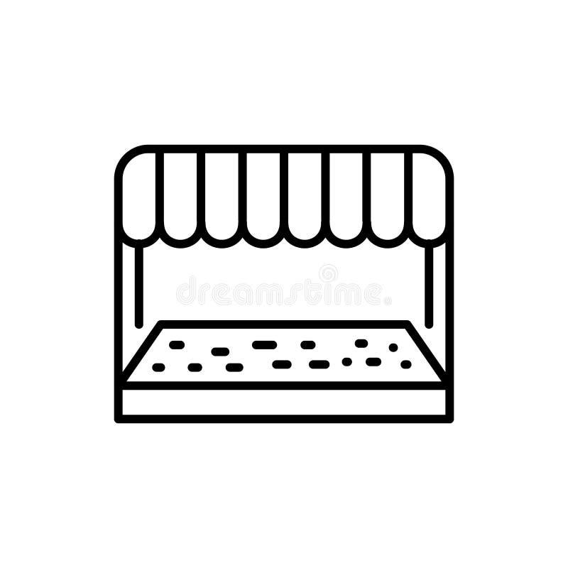 Logotipo delantero del vector del esquema del icono de la farmacia de la tienda libre illustration