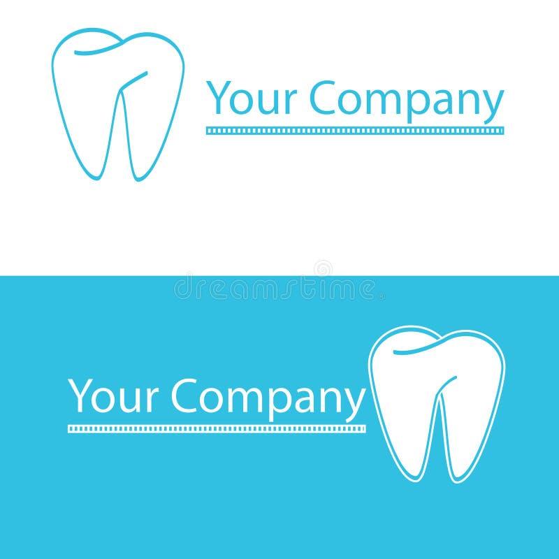 Logotipo dental ilustração stock