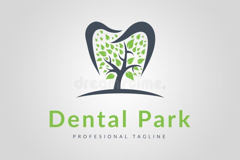 Logotipo dental del parque fotografía de archivo
