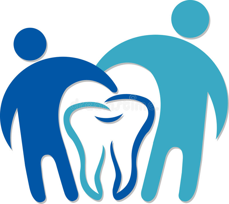 Logotipo dental dos pares ilustração royalty free