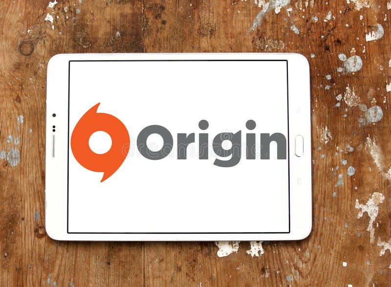 Logotipo digital del software de la distribución del origen fotografía de archivo libre de regalías