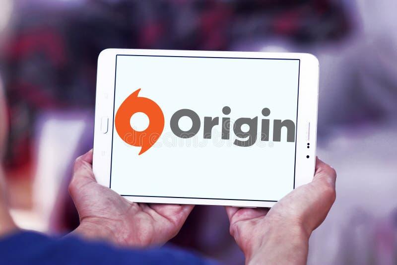 Logotipo digital del software de la distribución del origen imagenes de archivo
