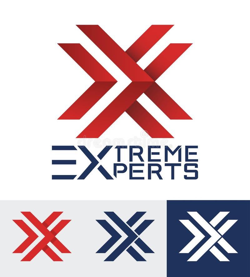 Logotipo diseñado moderno para una compañía deportiva Insignia de la carta X libre illustration