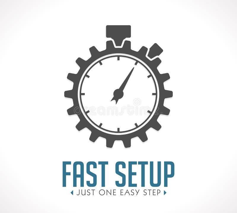 Logotipo - disposición rápida stock de ilustración