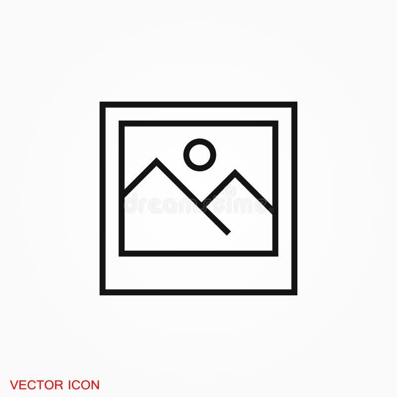 Logotipo do ícone da imagem, ilustração, símbolo do sinal do vetor para o projeto foto de stock royalty free