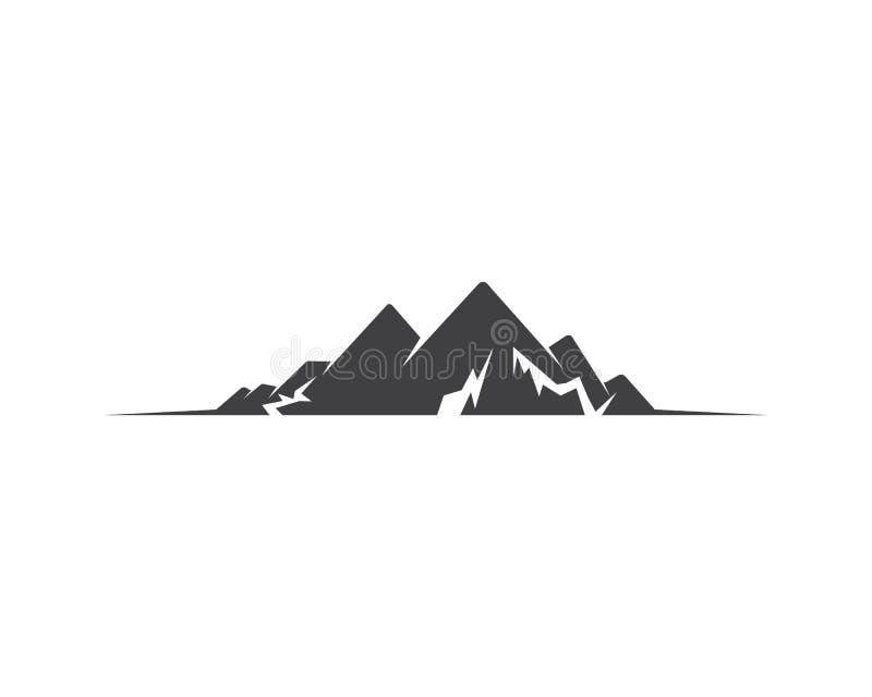 Logotipo do ícone da montanha ilustração stock