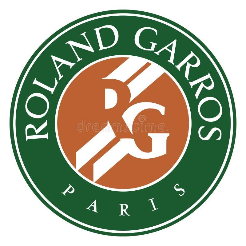 Logotipo do ícone de Roland Garros ilustração royalty free