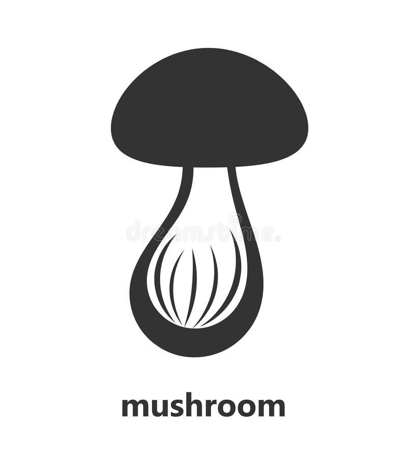 Logotipo do ícone do cogumelo ilustração do vetor