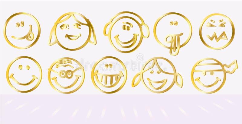 Logotipo do ícone do sorriso fotos de stock royalty free