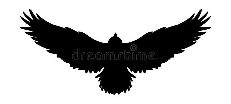 Logotipo do ícone do pássaro de voo, silhueta da águia do vetor Ilustração do falcão ilustração royalty free