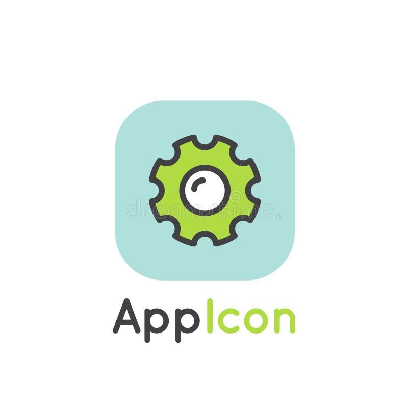 Logotipo do ícone para a aplicação do móbil ou do portátil ilustração royalty free