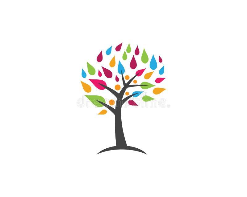 Logotipo do ícone do símbolo da árvore genealógica ilustração royalty free