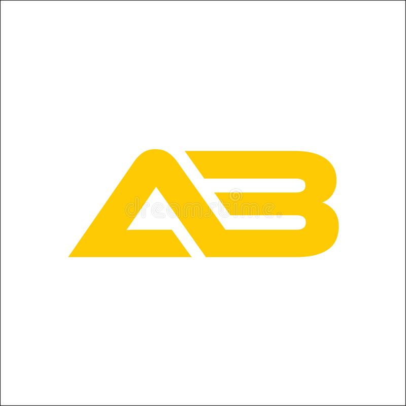 Logotipo do AB da letra de iniciais ilustração royalty free
