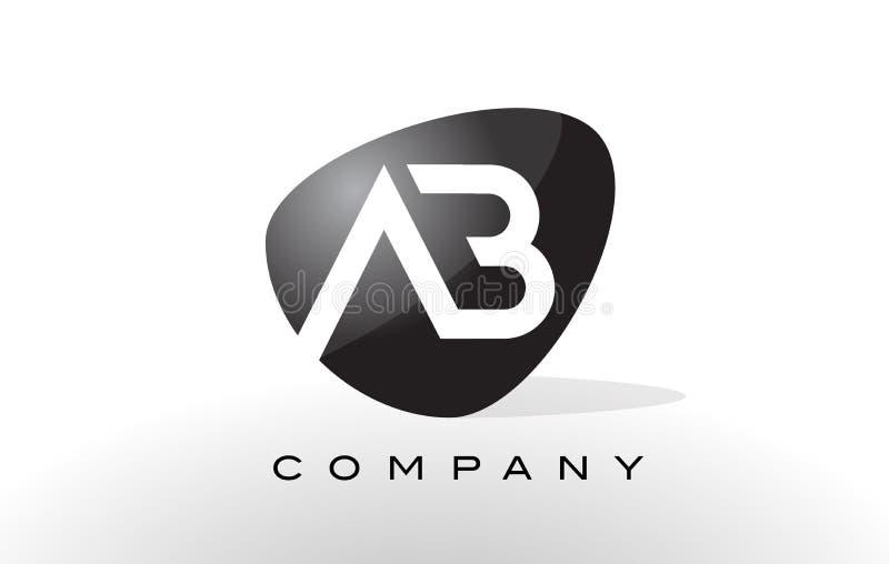 Logotipo do AB Vetor do projeto de letra ilustração royalty free