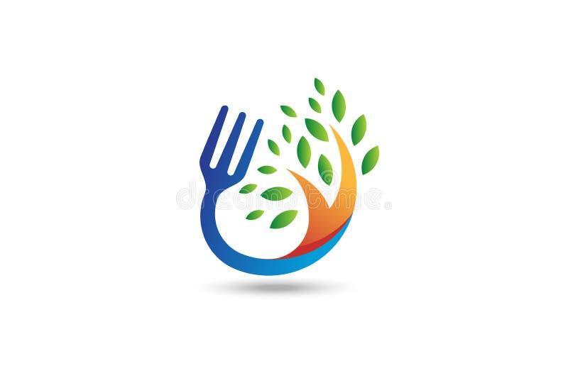 Logotipo do alimento biológico ilustração stock