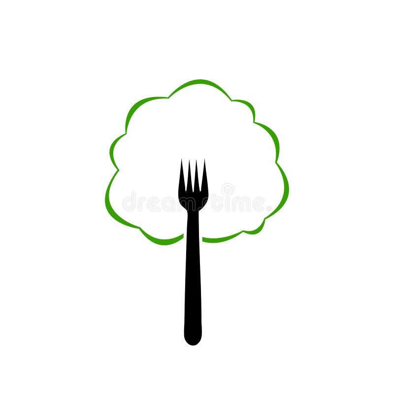 Logotipo do alimento biológico ilustração royalty free