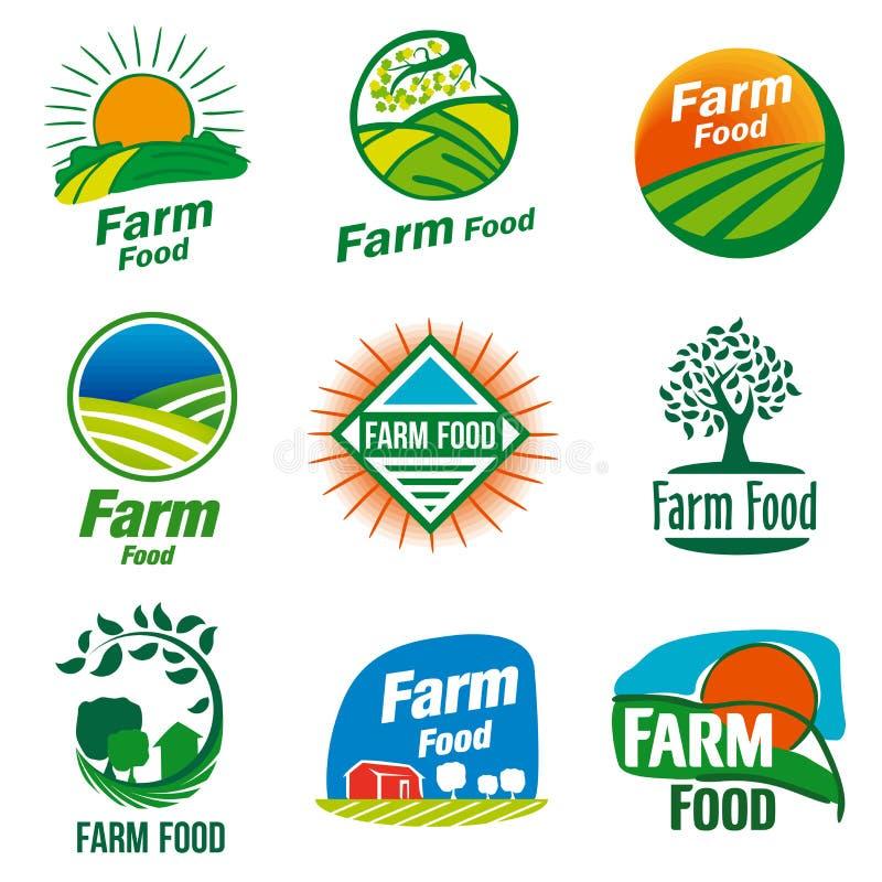 Logotipo do alimento da exploração agrícola foto de stock