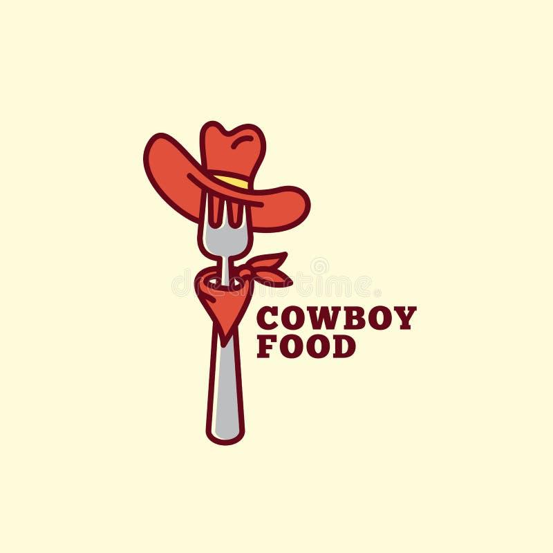 Logotipo do alimento do vaqueiro ilustração royalty free