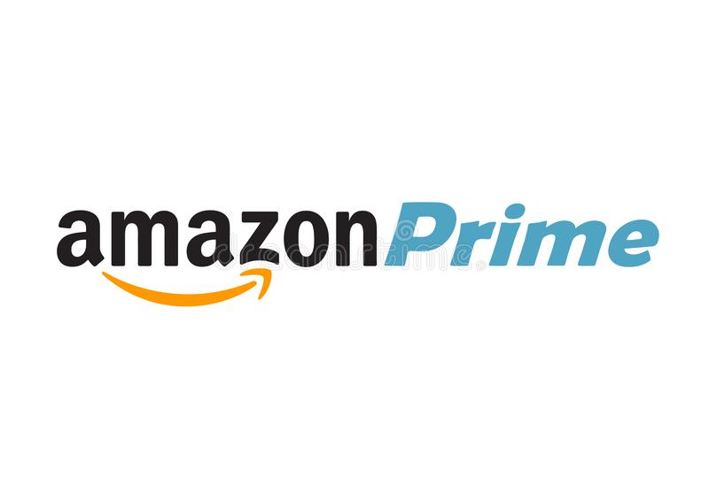 Logotipo do Amazon Prime ilustração royalty free