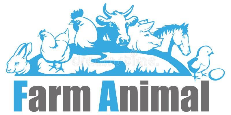 Logotipo do animal de exploração agrícola ilustração do vetor