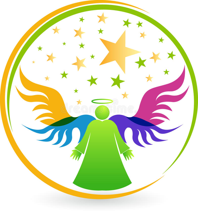 Logotipo do anjo ilustração royalty free