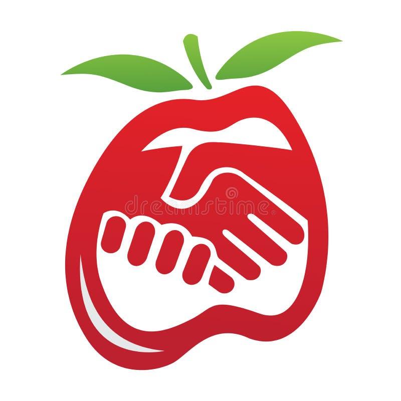 Logotipo do aperto de mão do negócio ilustração do vetor
