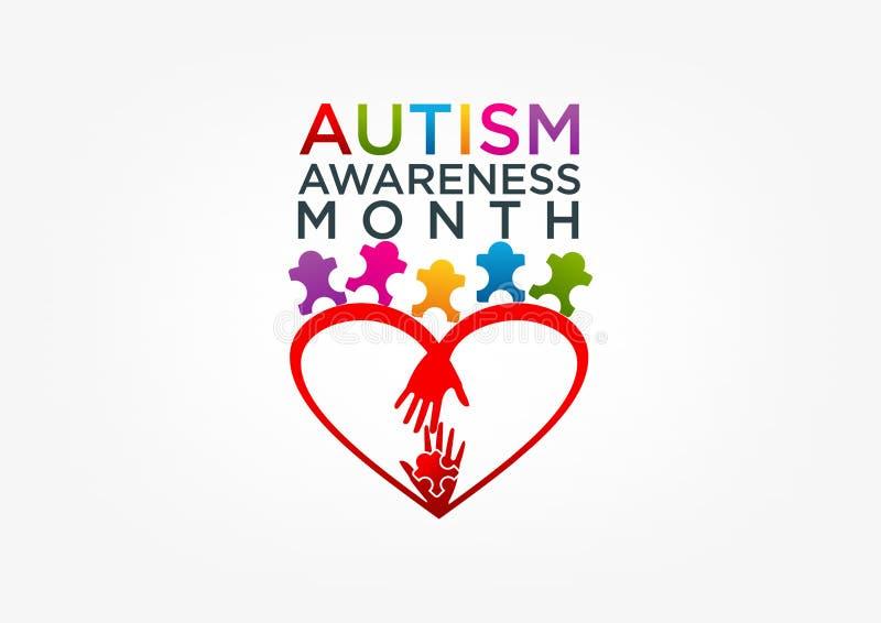 Logotipo do autismo ilustração royalty free