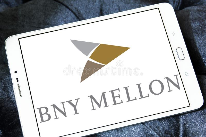 Logotipo do banco de BNY Mellon fotos de stock
