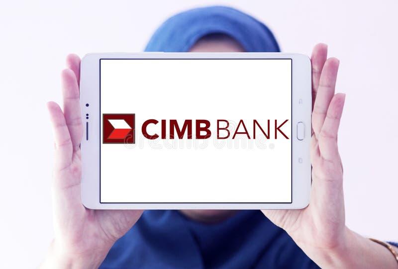Logotipo do banco de CIMB imagem de stock