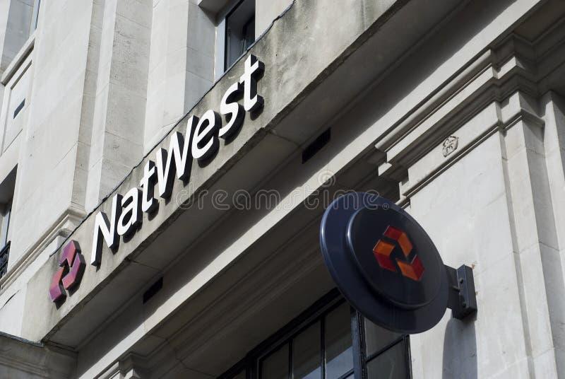 Logotipo do banco de Natwest imagem de stock