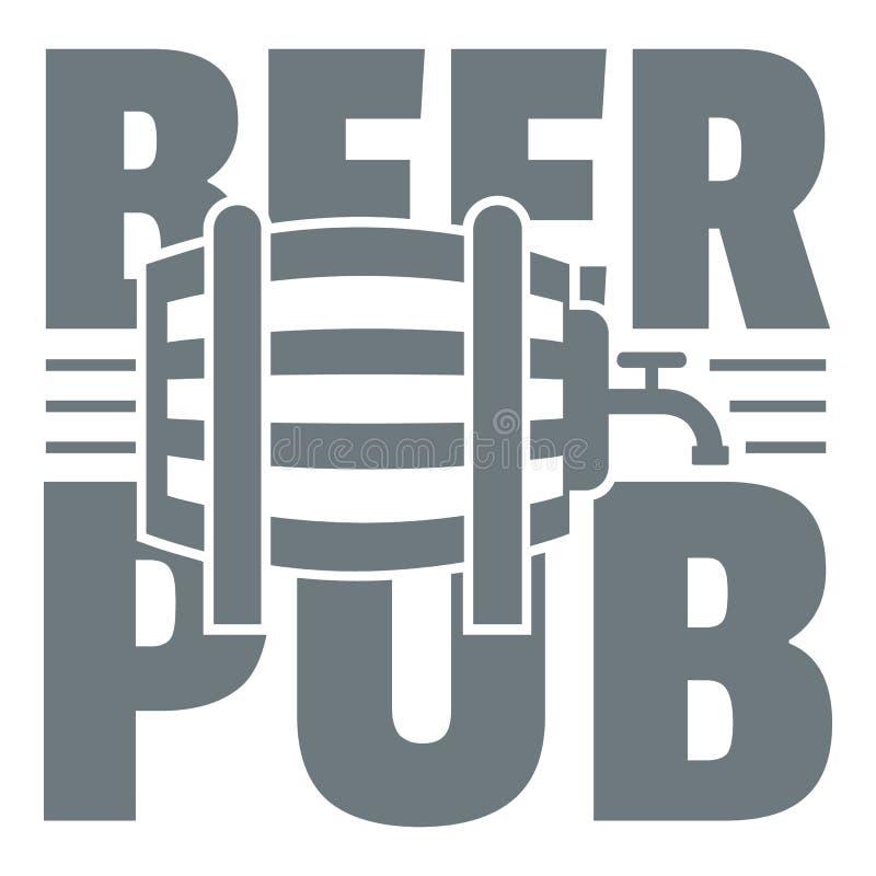 Logotipo do bar da cerveja, estilo cinzento simples ilustração royalty free