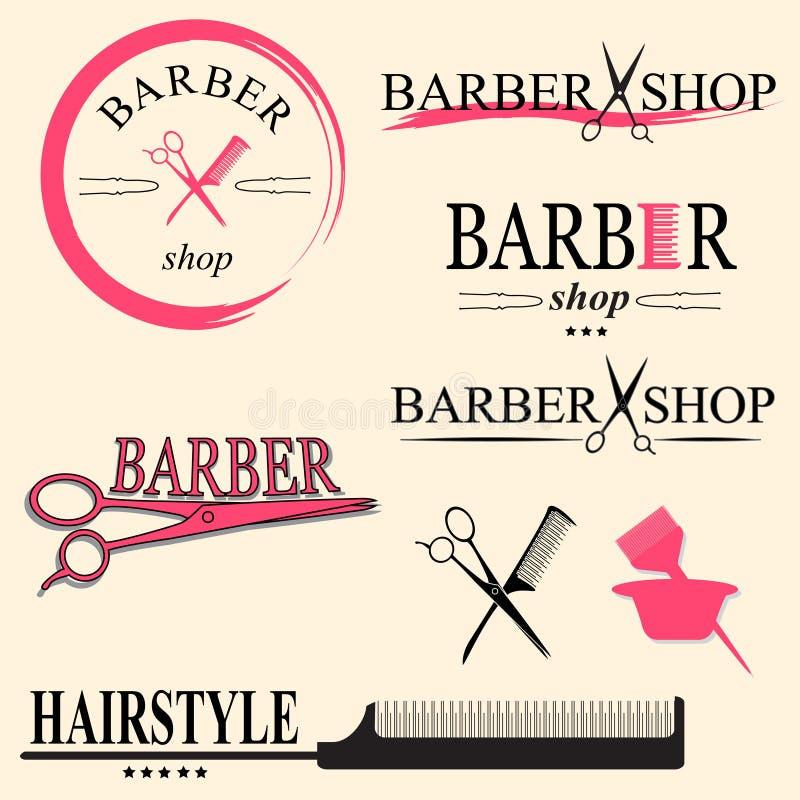 Logotipo do barbeiro ilustração royalty free