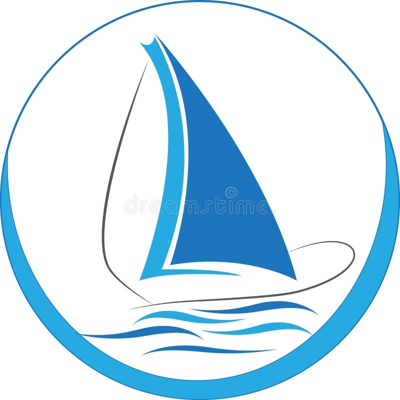 Logotipo do barco ilustração royalty free