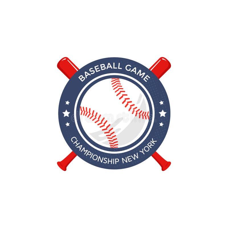 Logotipo do basebol, emblema ilustração stock