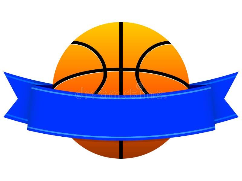 Logotipo do basquetebol ilustração stock