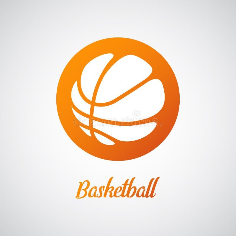Logotipo do basquetebol ilustração royalty free