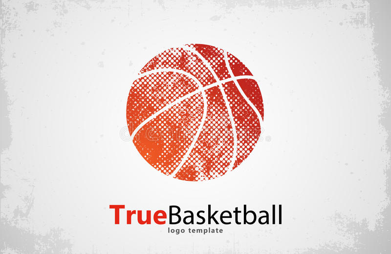 Logotipo do basquetebol Projeto esporte creativo ilustração stock