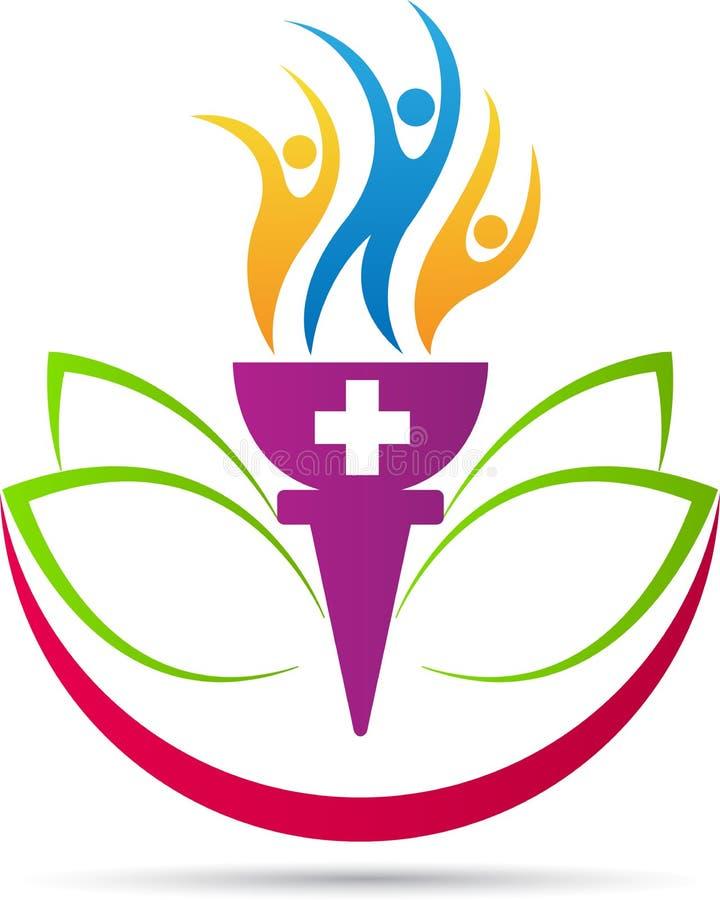 Logotipo do bem-estar ilustração royalty free