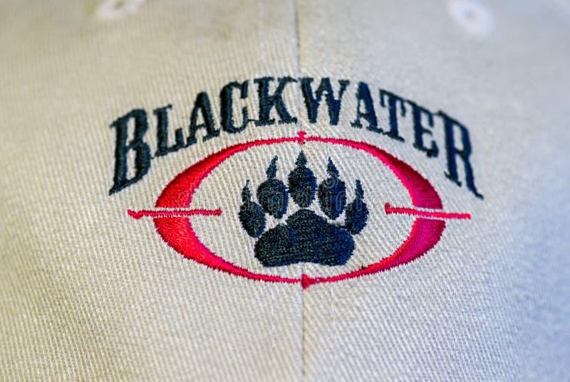 Logotipo do Blackwater em um boné de beisebol fotos de stock
