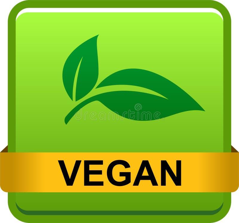 Logotipo do botão do selo do vegetariano ilustração stock