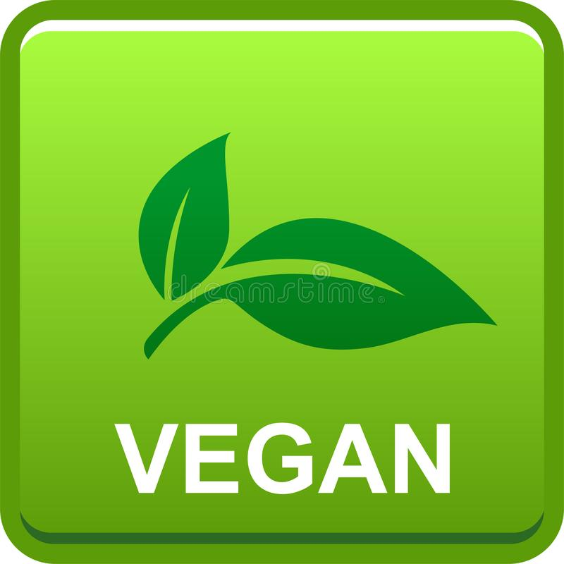Logotipo do botão do selo do vegetariano ilustração do vetor