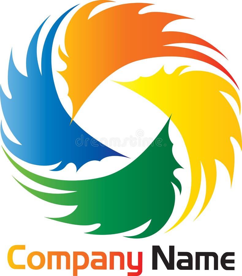 Logotipo do Brushstroke ilustração stock