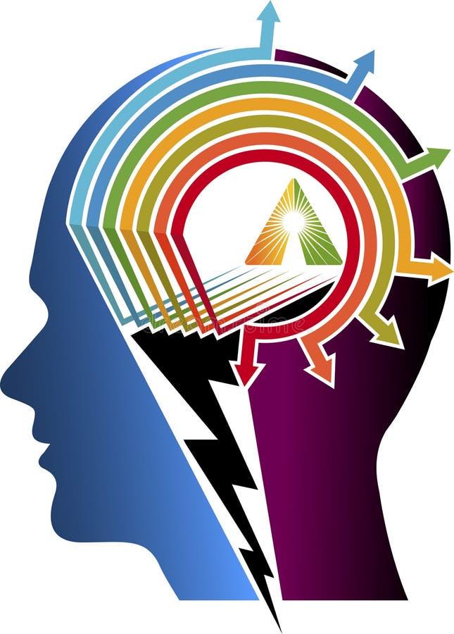 Logotipo do cérebro do poder ilustração royalty free